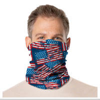 Gaiter Face Covering: Americana