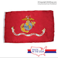 Flag, Marine Corps: 3x5 Nylon (Made in USA!)