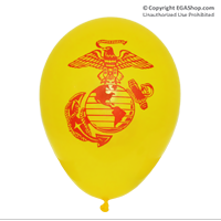Balloons: EGA on 2 sides (12-pack, YELLOW)