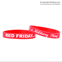 Wristband: Red Friday...It's a Military Thing