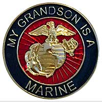 EGA Lapel Pin: My Grandson is a Marine