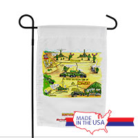 Garden Flag (Made in USA): SemperToons - Battery in the Field