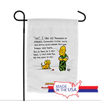 Garden Flag (Made in USA): SemperToons - Dog What to Do