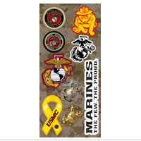 Stickers, Marine Corps Icons