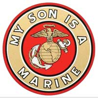 Decal, EGA My Son Is A Marine